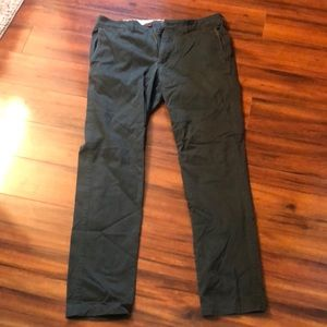 Abercrombie & Fitch Green Chino